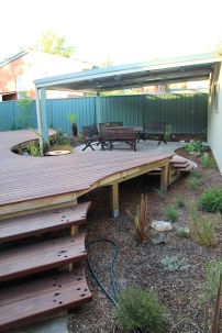 Raised 'floating' deck
