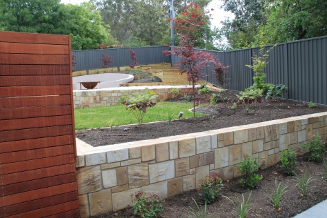 Brand new hard and soft landscaping at this new home
