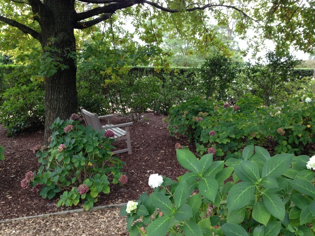 Frankly, a garden can never have too many hydrangeas, especially in a peaceful setting like this