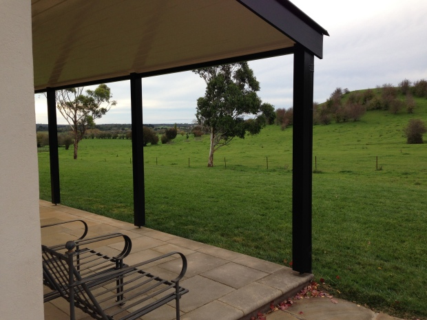 View of the countryside from the verandah
