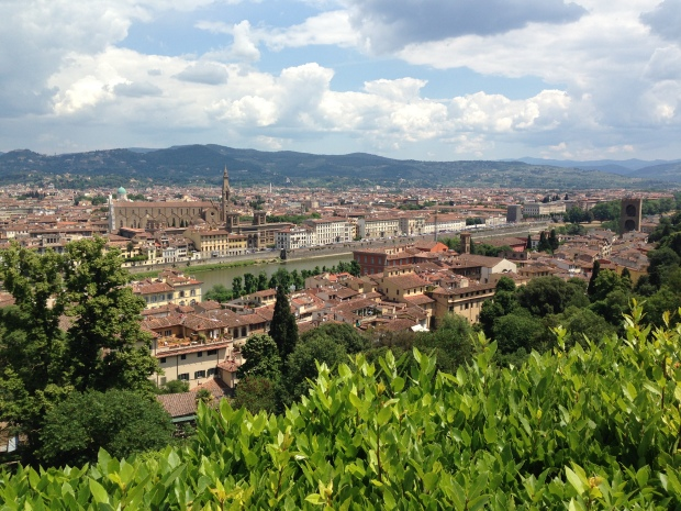 View of the beautiful city of Florence from the Bardini Garden