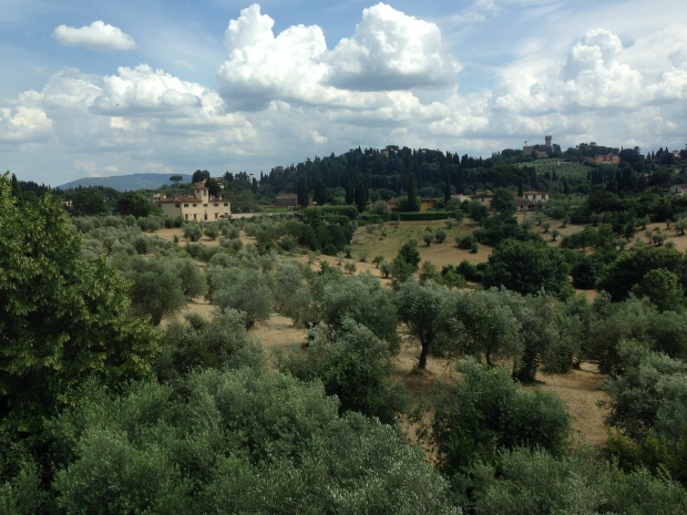 Looking out to the hills beyond the Boboli Garden in Florence
