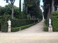 Long, straight paths at the Boboli gardens