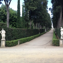 Long, straight paths at the Boboli gardens