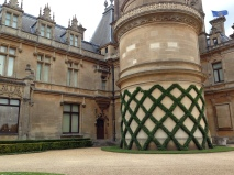 Ivy wall decoration at Waddesdon Manor
