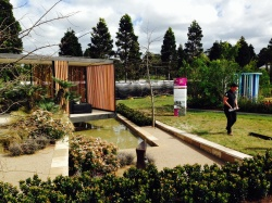Myles Baldwin putting the finishing touches to his garden