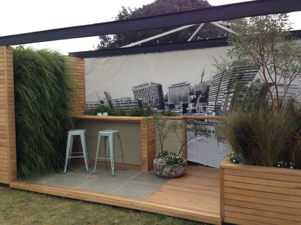 Vertical garden made with lovely textured grasses by Rupert Baywill at the Australian Garden Show Sydney 2014