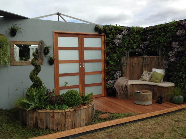 Stunning balcony garden with vertical garden by Kate Grace, 'This Balcony', at the Australian Garden Show Sydney 2014