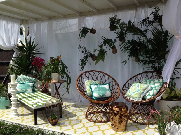 Mary Scanlan's 'The Diamantina Design' is a lovely eclectic mix, exhibited at the Australian Garden Show Sydney, 2014