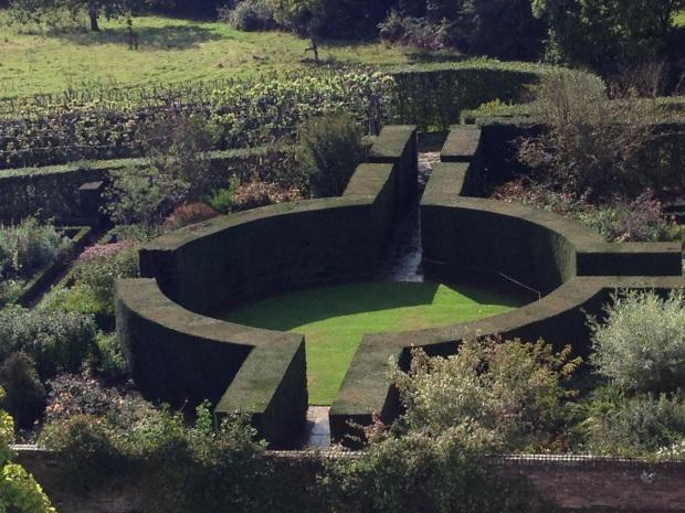 Central hedging in the Rose Garden at Sissinghurst