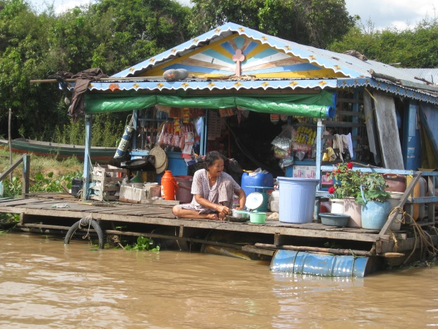 Floating Village near Siem Reap in Cambodia
