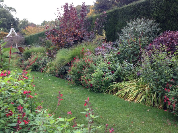 The beautiful Red Borders at Hidcote