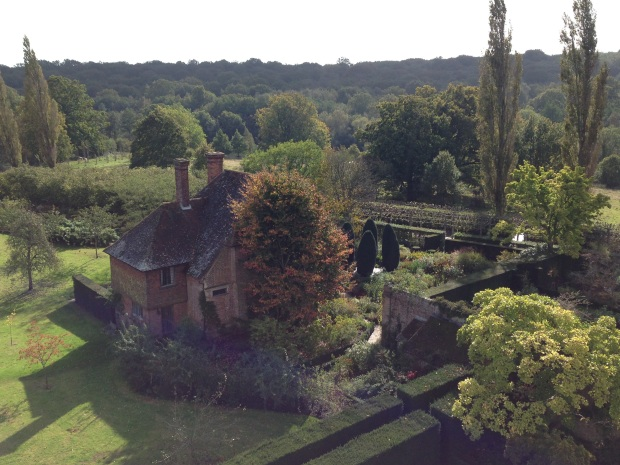 View of the surrounding countryside from Sissinghurst Tower - the property nestles perfectly into its environment