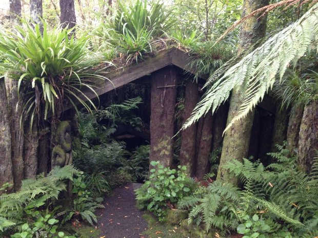 Entrance to the underground glow worm tunnel at Te Kainga Marire
