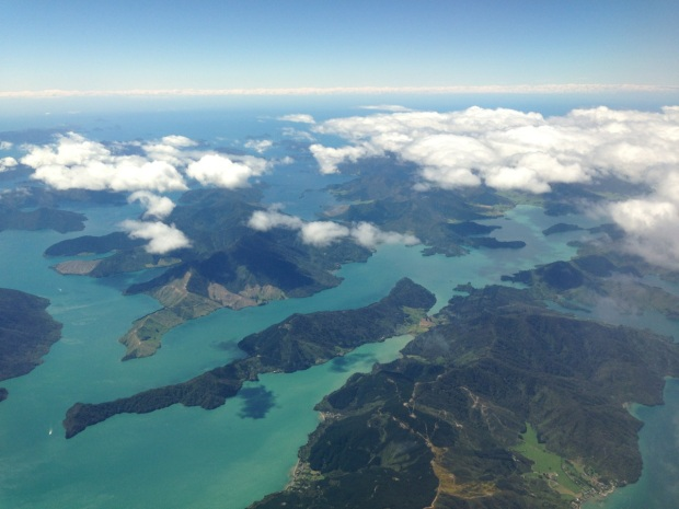 Islands on the approach to Wellington Airport