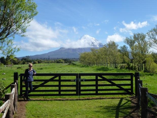 Me standing in front of Mount Taranaki