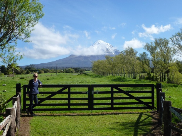 Me standing in front of Mount Taranaki