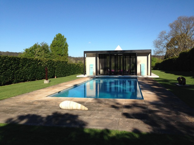 Simple pool and cabana at Retford Park
