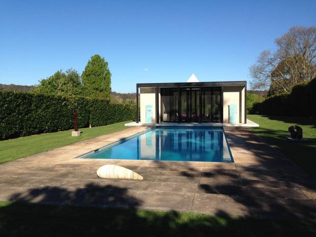 Simple pool and cabana at Retford Park