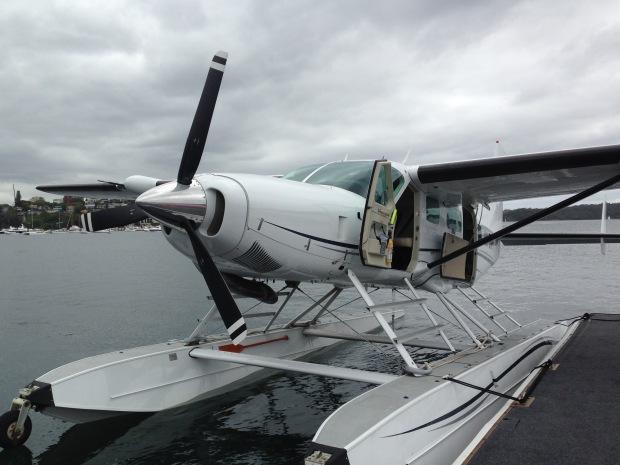 Cessna 208 Caravan Seaplane at Rosebay, Sydney. Janna Schreier