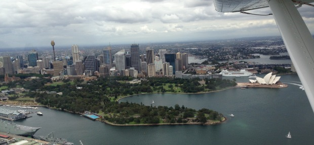Sydney Harbour by air. Janna Schreier