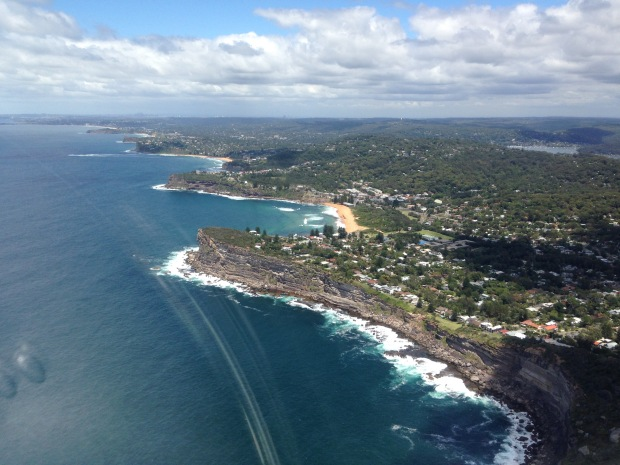 View from the top of the Northern Beaches to the City. Janna Schreier