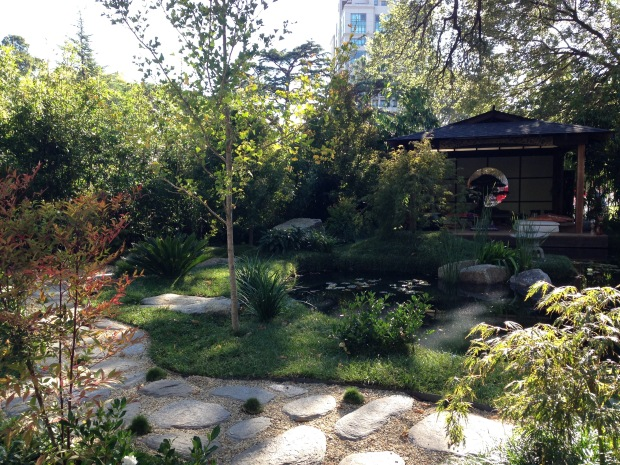 Beyond Blue Wellness Garden by Landscape Design Group at MIFGS 2015. Janna Schreier