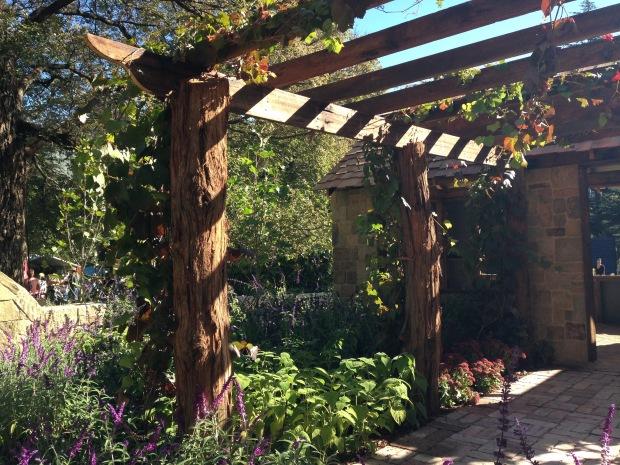 Rustic materials in Waddell Landscape's garden. Janna Schreier