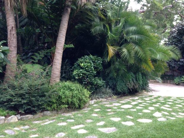 Stone pavers in lawn. Janna Schreier