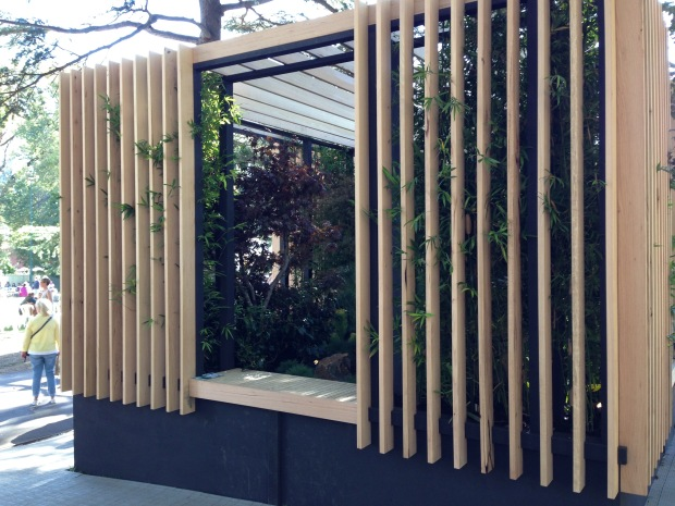 Bamboo 'skins' create a protected space. Janna Schreier