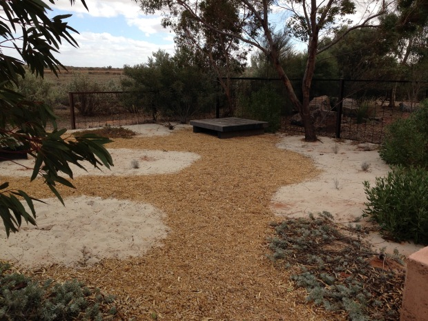 Coastal garden at Arid Lands Botanic Garden. Janna Schreier