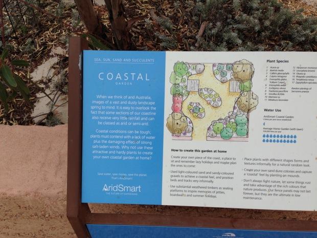 Coastal Garden Board at the Arid Lands Botanic Garden. Janna Schreier