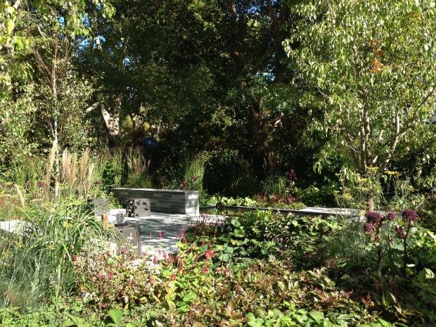 Ian Barker's MIFGS 2015 show garden: 'Cross Roads'. Janna Schreier
