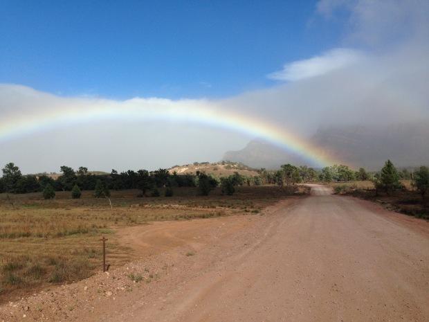 Rainbow in the Flinders Ranges