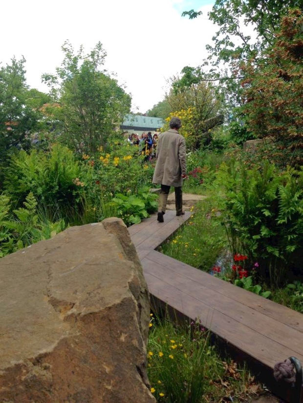 Dan Pearson walking through his Chelsea garden