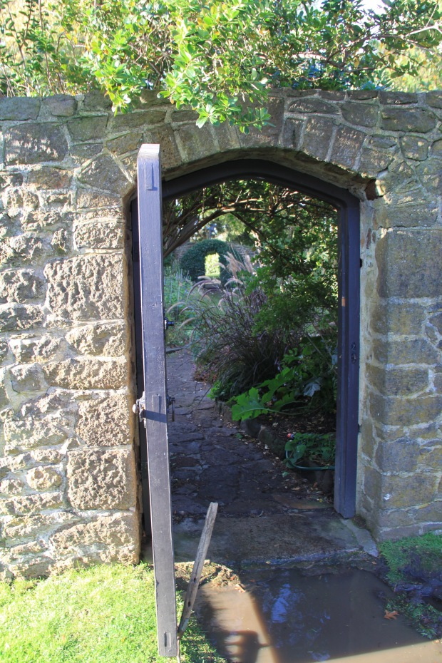 Entrance to Edna Walling designed walled garden at Cruden Farm. Janna Schreier