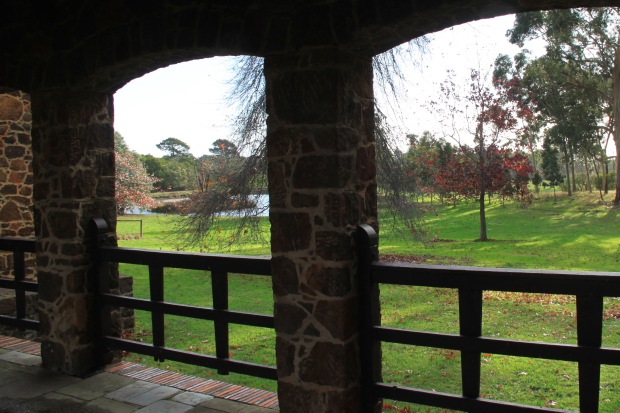 Looking out to the paddocks from the stables at Cruden Farm. Janna Schreier