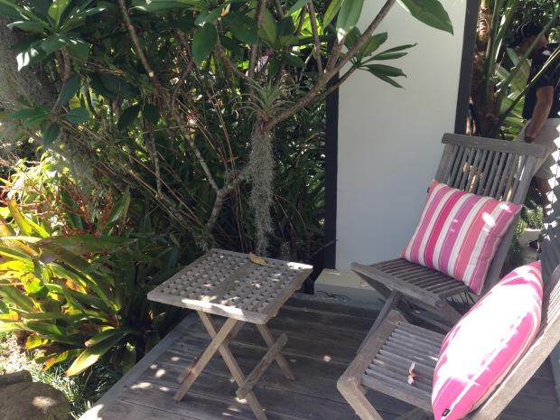 Cosy corner at Mark Paul's garden. Janna Schreier