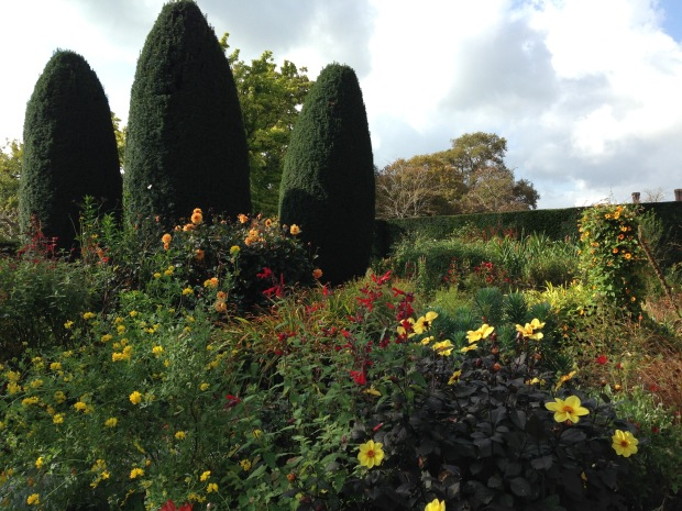 The Cottage Garden, Sissinghurst, with hot colours