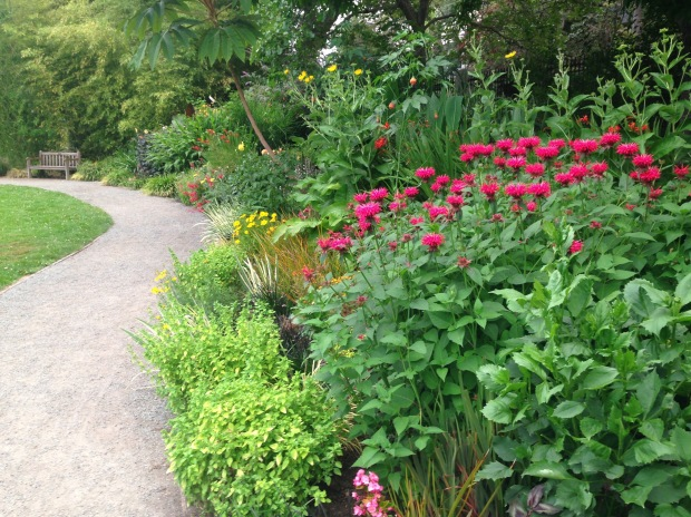 Deep, colourful borders at Government House, British Columbia. Janna Schreier