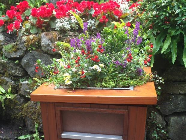Floral bins at Butchart Gardens. Janna Schreier
