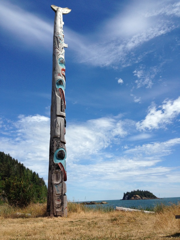 Totem pole at Haida Gwaii Heritage Museum. Janna Schreier