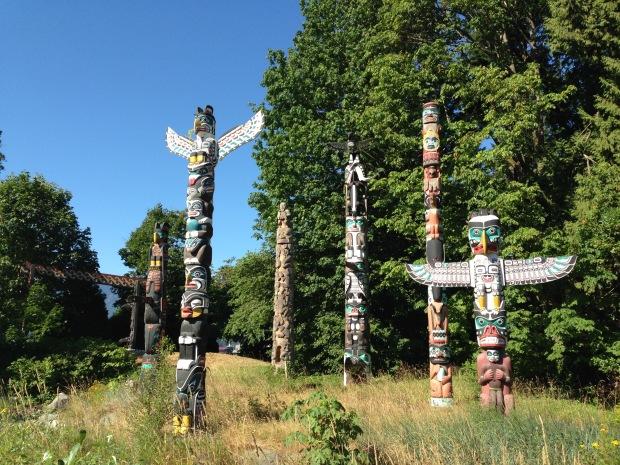 Totem Poles at Stanley Park. Janna Schreier