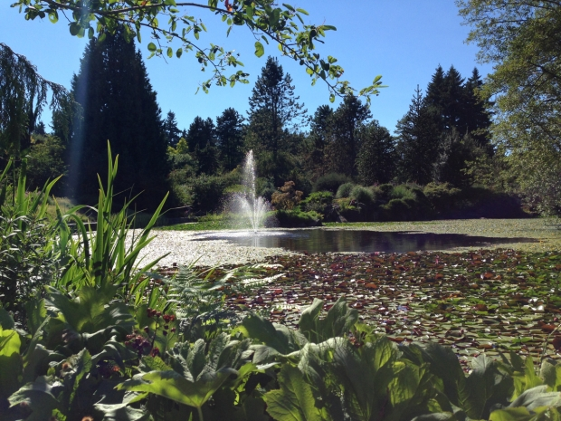 Fountain at VanDusen Botanical Garden, Vancouver. Janna Schreier