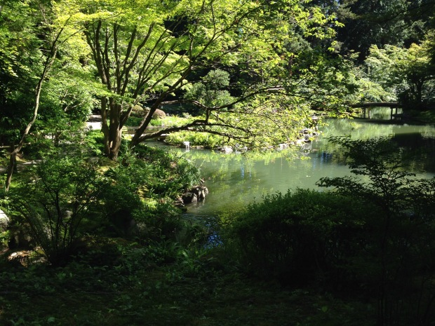 Land and water connect at Nitobe Japanese Garden