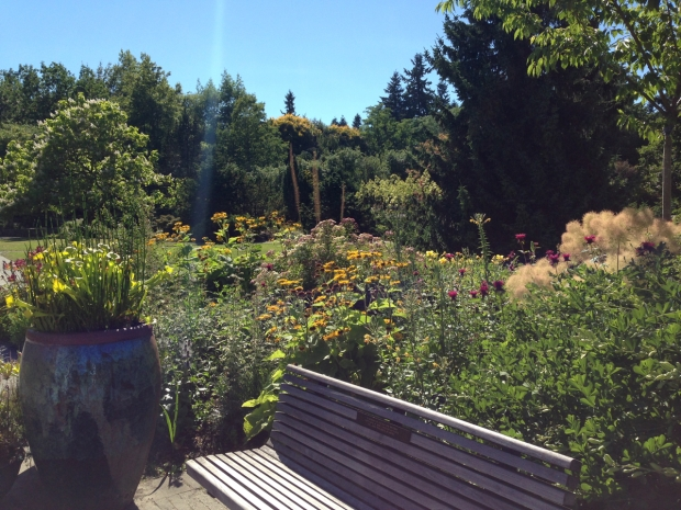 Nice spot to sit and enjoy the VanDusen Botanical Garden