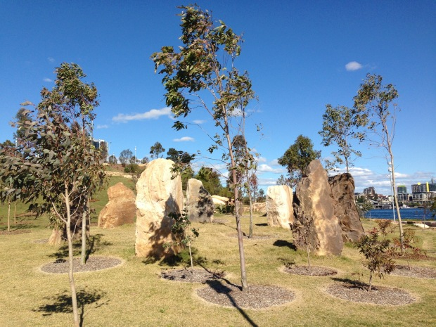 Rock sculpture at Barangaroo Reserve