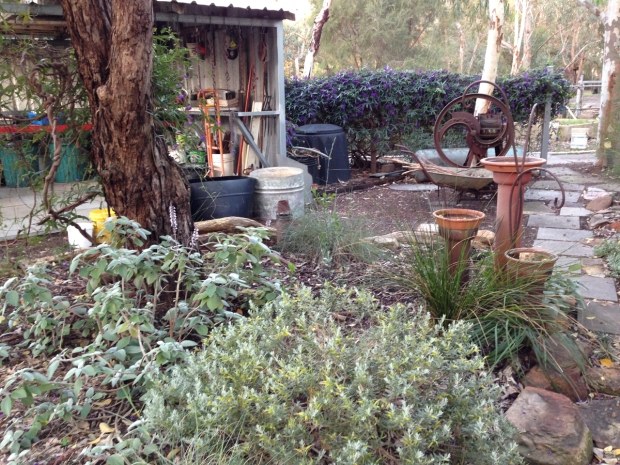 Antique machinery adds soul to Suzanne's garden
