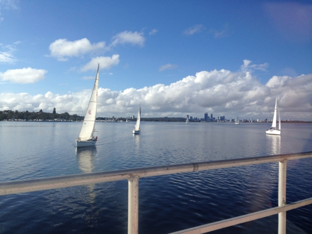 Swan River with Perth city in background