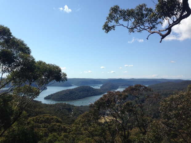 View from the top of Muogamarra Nature Reserve, looking out to the Hawkesbury River